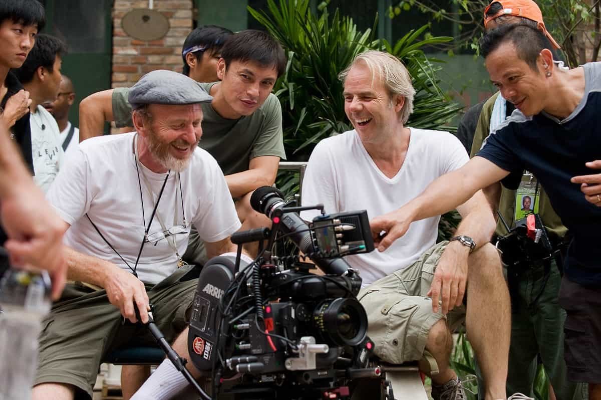 Cinematographer Roger Pratt and Director Harald Zwart on set in China in Columbia Pictures' THE KARATE KID.