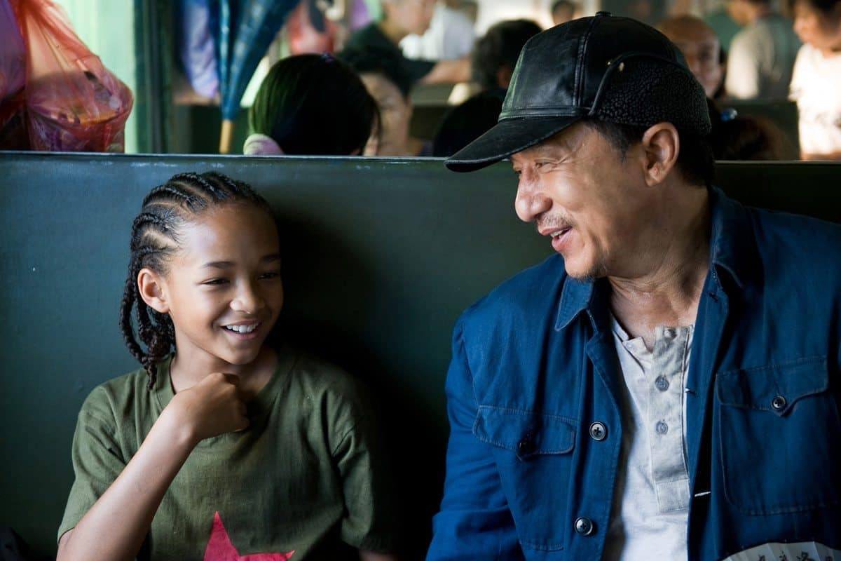 "Jaden Smith as ""Dre"" and Jackie Chan as ""Mr. Han"" in Columbia Pictures' KARATE KID."