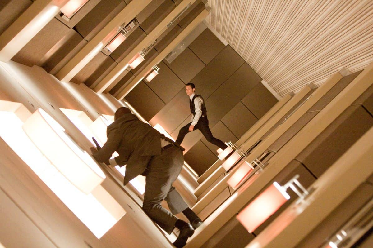 JOSEPH GORDON-LEVITT as Arthur in Warner Bros. PicturesÕ and Legendary PicturesÕ sci-fi action film ÒINCEPTION,Ó a Warner Bros. Pictures release.