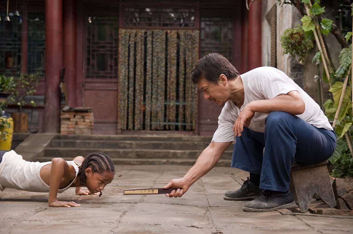 "Jaden Smith as ""Dre Parker"" and Jackie Chan as ""Mr. Han"" in Columbia Pictures' THE KARATE KID."
