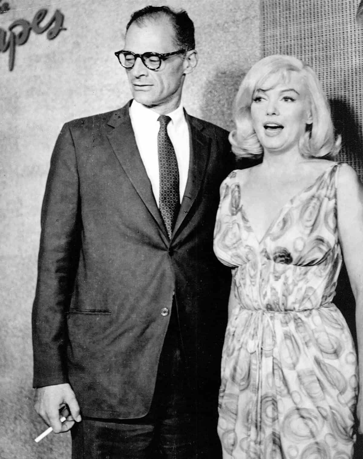"Playwright Arthur Miller and wife Marilyn Monroe on the set of ""The Misfits"" in 1961. ** NO TRADE OR COMMERCIAL USE ** EDITORIAL USE ONLY ** © Photofest / Retna Ltd."