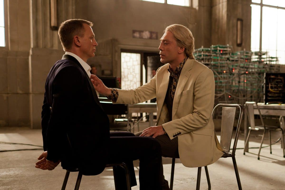 Daniel Craig (left) and Javier Bardem star in Metro-Goldwyn-Mayer Pictures/Columbia Pictures/EON Productions' action adventure SKYFALL.