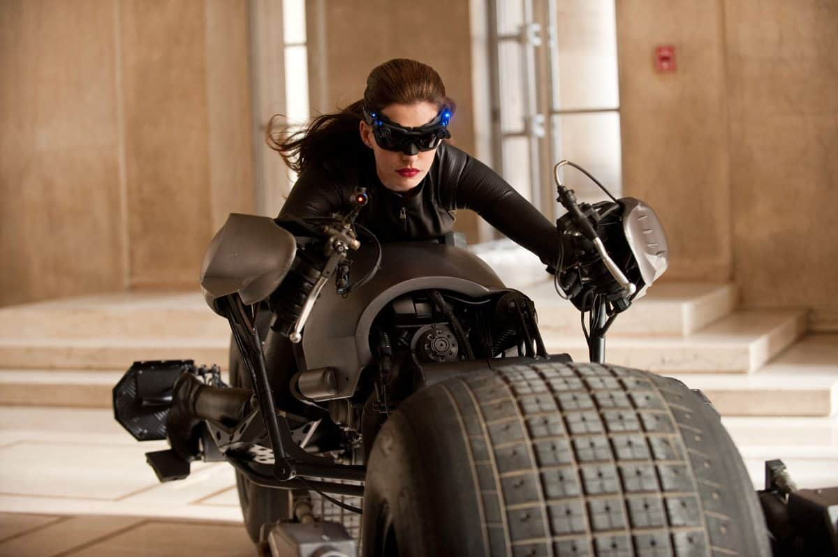 ANNE HATHAWAY as Selina Kyle in Warner Bros. PicturesÕ and Legendary PicturesÕ action thriller ÔTHE DARK KNIGHT RISES,Ó a Warner Bros. Pictures release. TM & © DC Comics.