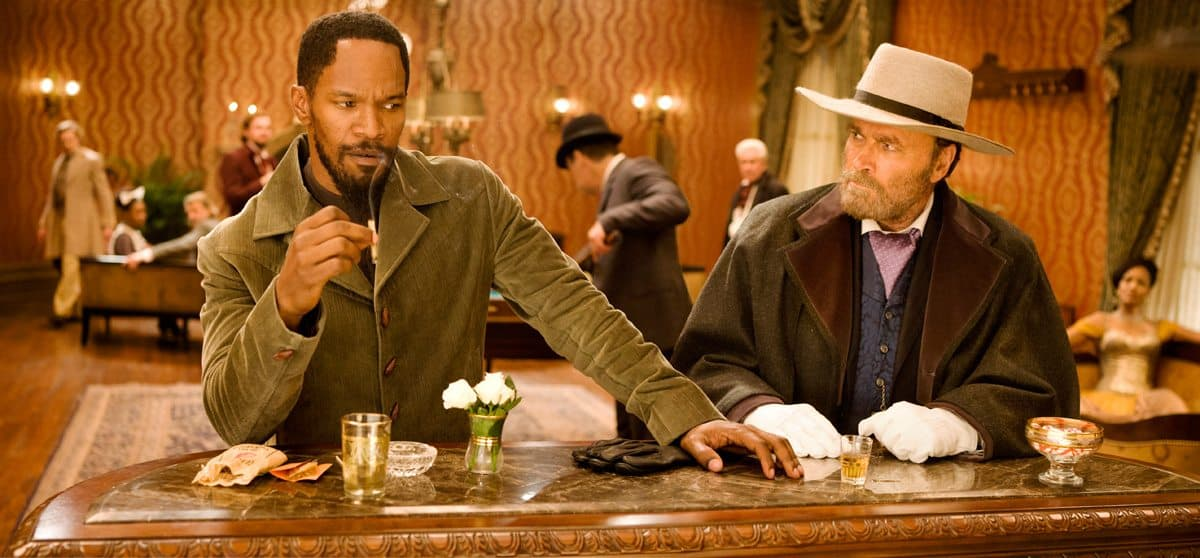 JAMIE FOXX and FRANCO NERO star in DJANGO UNCHAINED Photo: Andrew Cooper, SMPSP © 2012 The Weinstein Company.