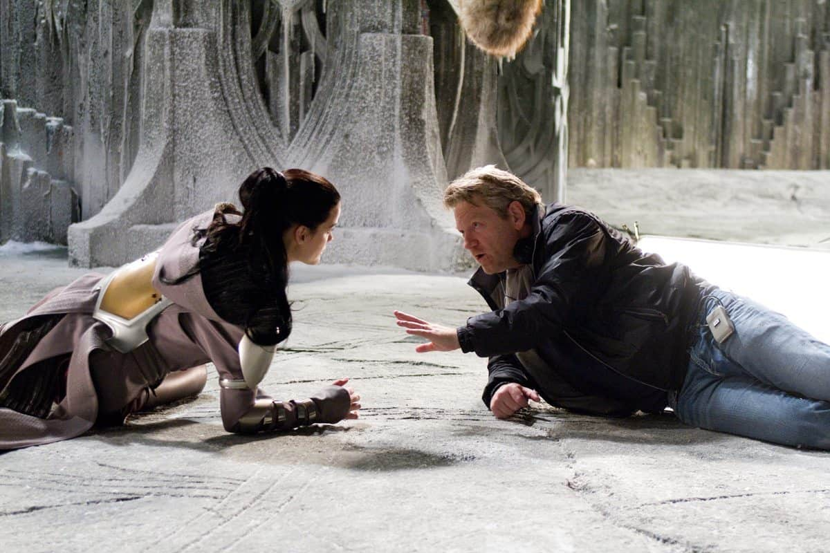 Photo credit: Zade Rosenthal / Marvel Studios Left to right: Jaimie Alexander (as Sif) discusses a scene with director Kenneth Branagh on the set of THOR, from Paramount Pictures and Marvel Entertainment.© 2011 MVLFFLLC. TM & © 2011 Marvel. All Rights Reserved.