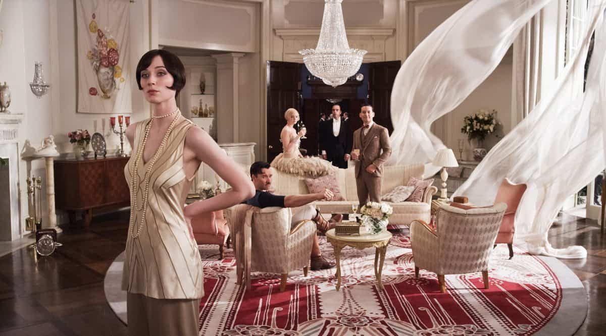 "(L-r) ELIZABETH DEBICKI as Jordan Baker, JOEL EDGERTON as Tom Buchanan, CAREY MULLIGAN as Daisy Buchanan and TOBEY MAGUIRE as Nick Carraway in Warner Bros. Pictures' and Village Roadshow Pictures' drama ""THE GREAT GATSBY,"" a Warner Bros. Pictures release."