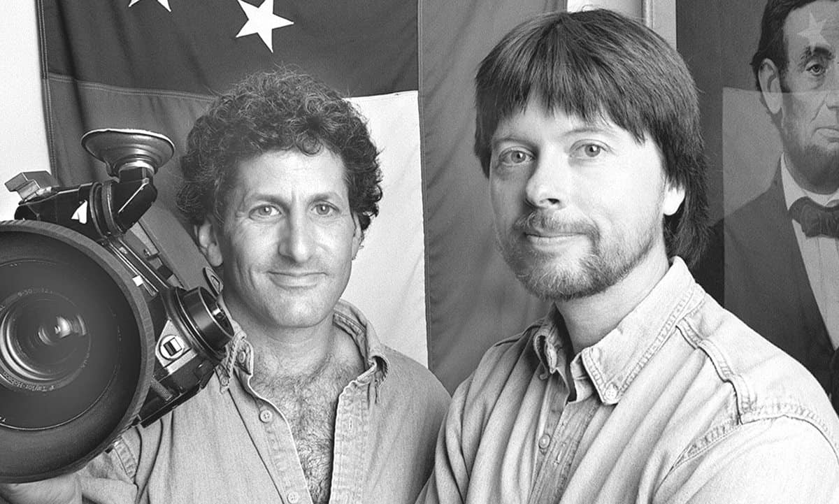 Photo credit: Douglas Kirkland  left to right: Buddy Squires, Ken Burns