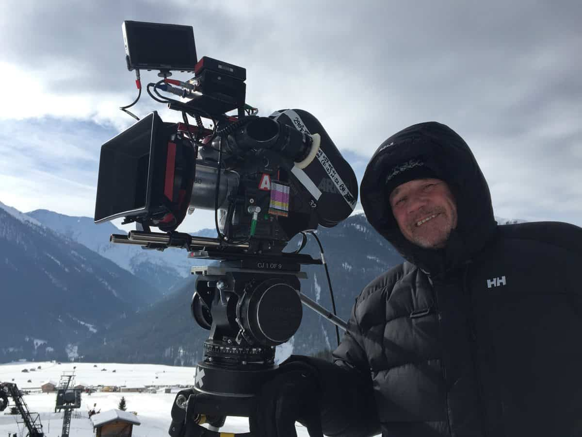 Brr ... Clive Jackson shooting on the snowy lopes in Austria