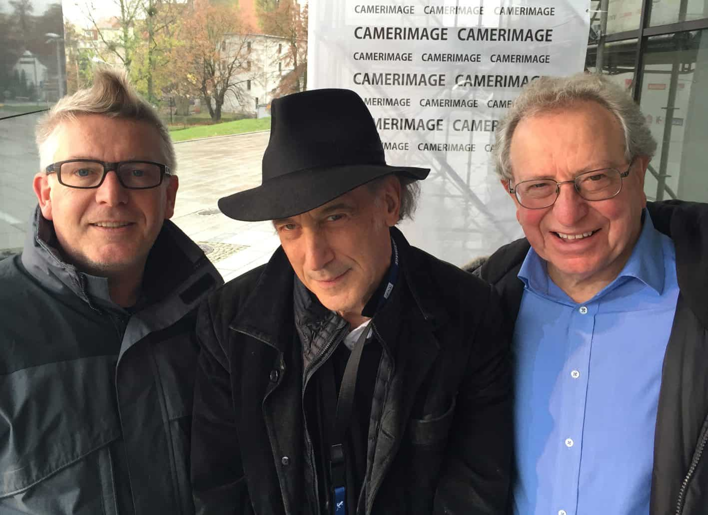 Ron Prince with Ed Lachman ASC and Alan Lowne at Camerimage 2015