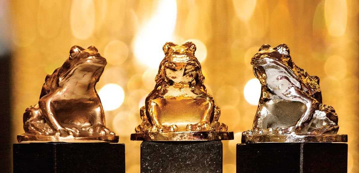 Camerimage Golden, Silver and Bronze Frog