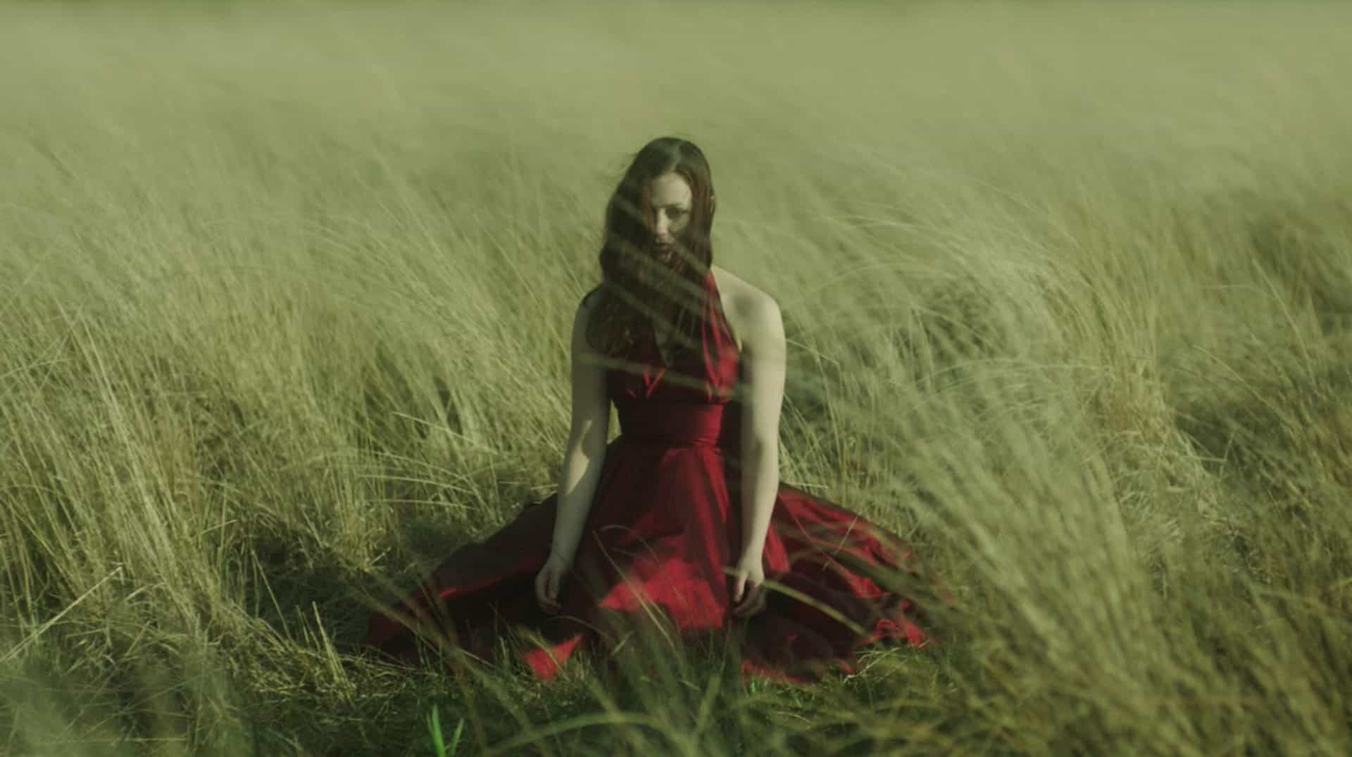 Lady in red... a powerful image from the award-winning episode of <em>Hinterland</em>