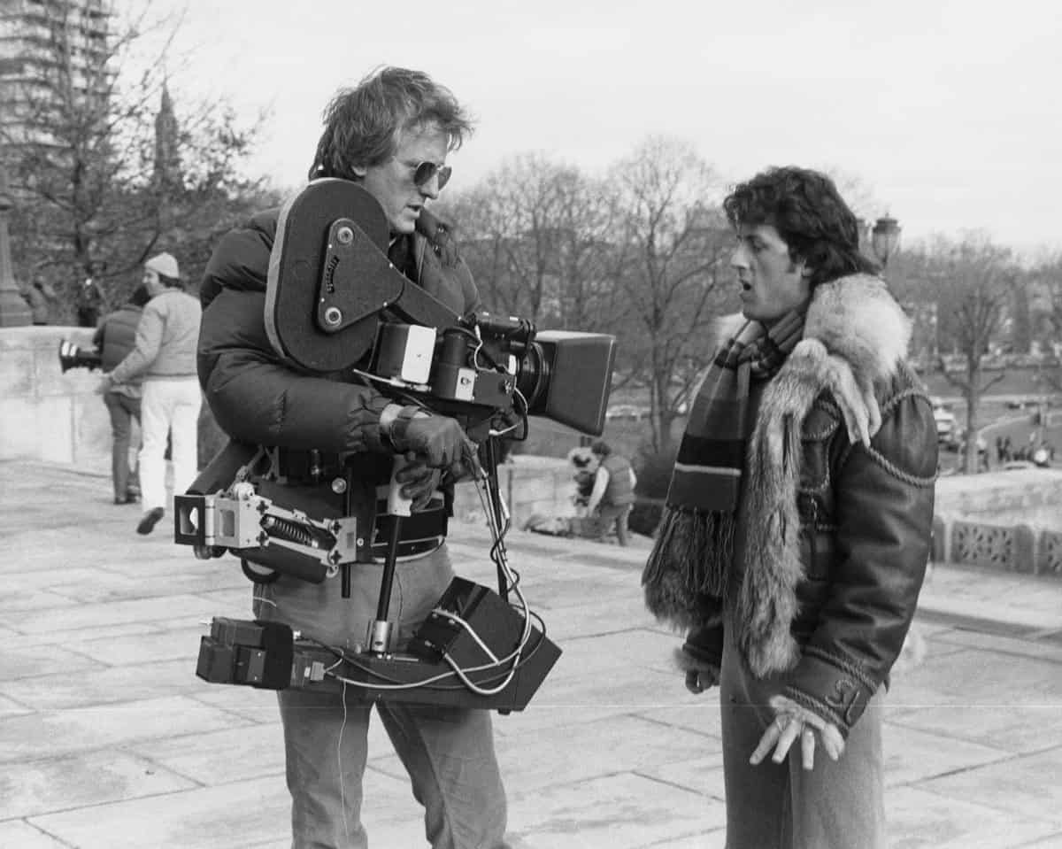 Packing more punch... at the top of the Art Museum stairs (again) with Sylvester Stallone on <em>Rocky II</em>