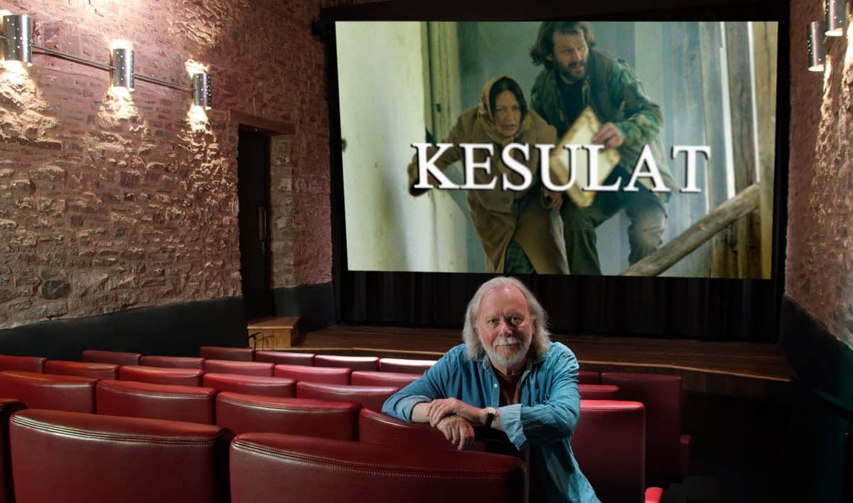 Alan Trow BSC in the cinema he runs in Hay-on-Wye (with trailer for <em>Kesulat</em>)
