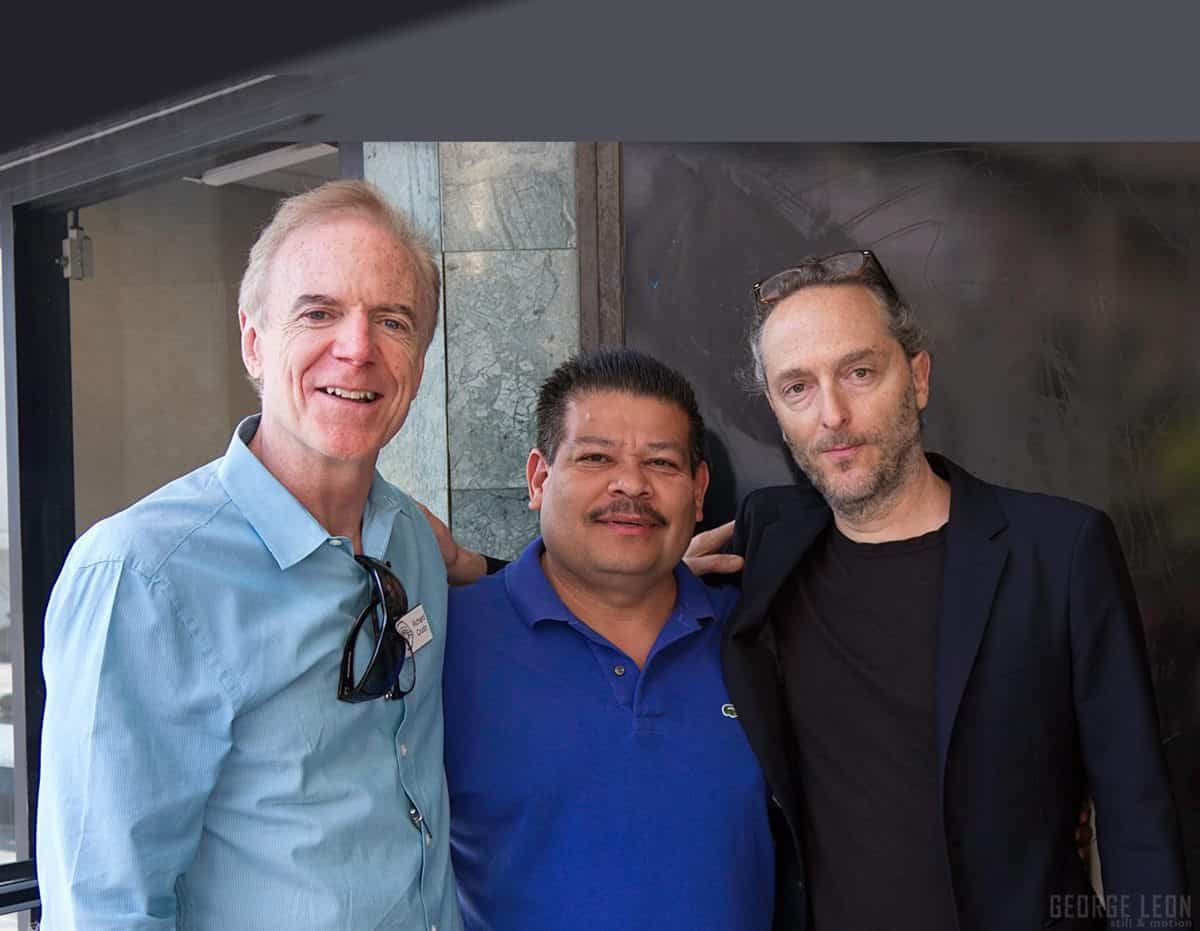 Richard Crudo ASC, Saul Molina AC circulation director and three time consecutive Oscar winner Emmanuel Lubezki ASC AMC. Photo © George Leon/Filmcastlive