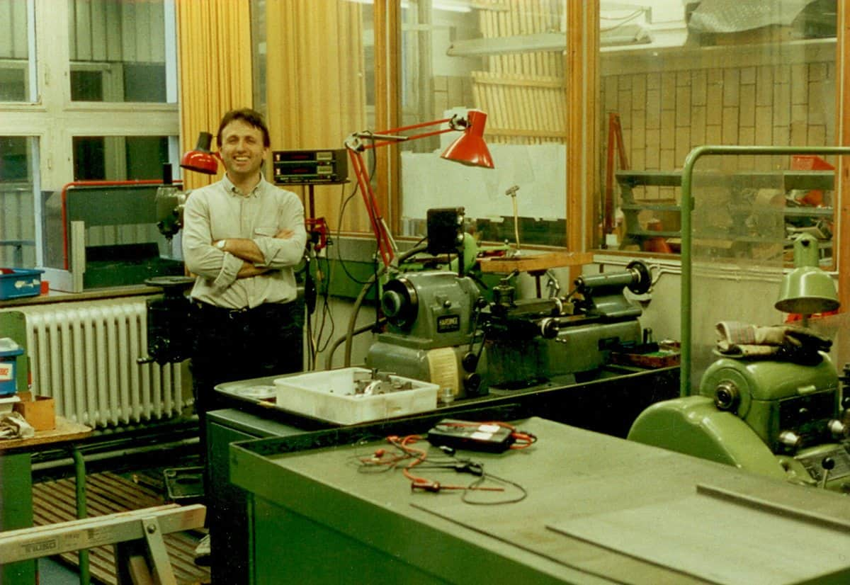 Alfred Piffl moved into the first P+S Technik workshop in 1991
