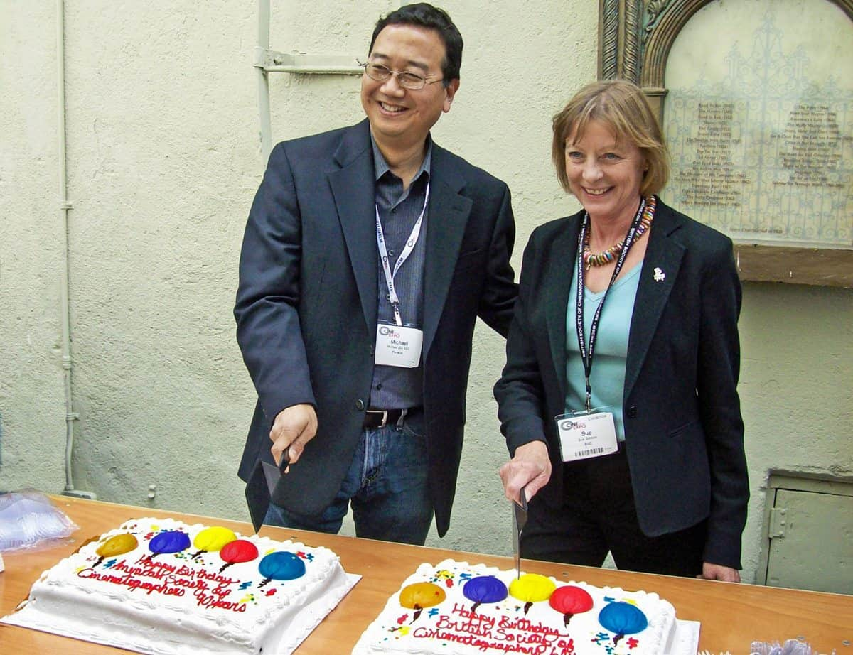 Two presidents... Sue Gibson BSC pictured with Michael Goi ASC at Cinegear 2009, marking the 60th anniversary of the BSC and the 90th anniversary of the ASC