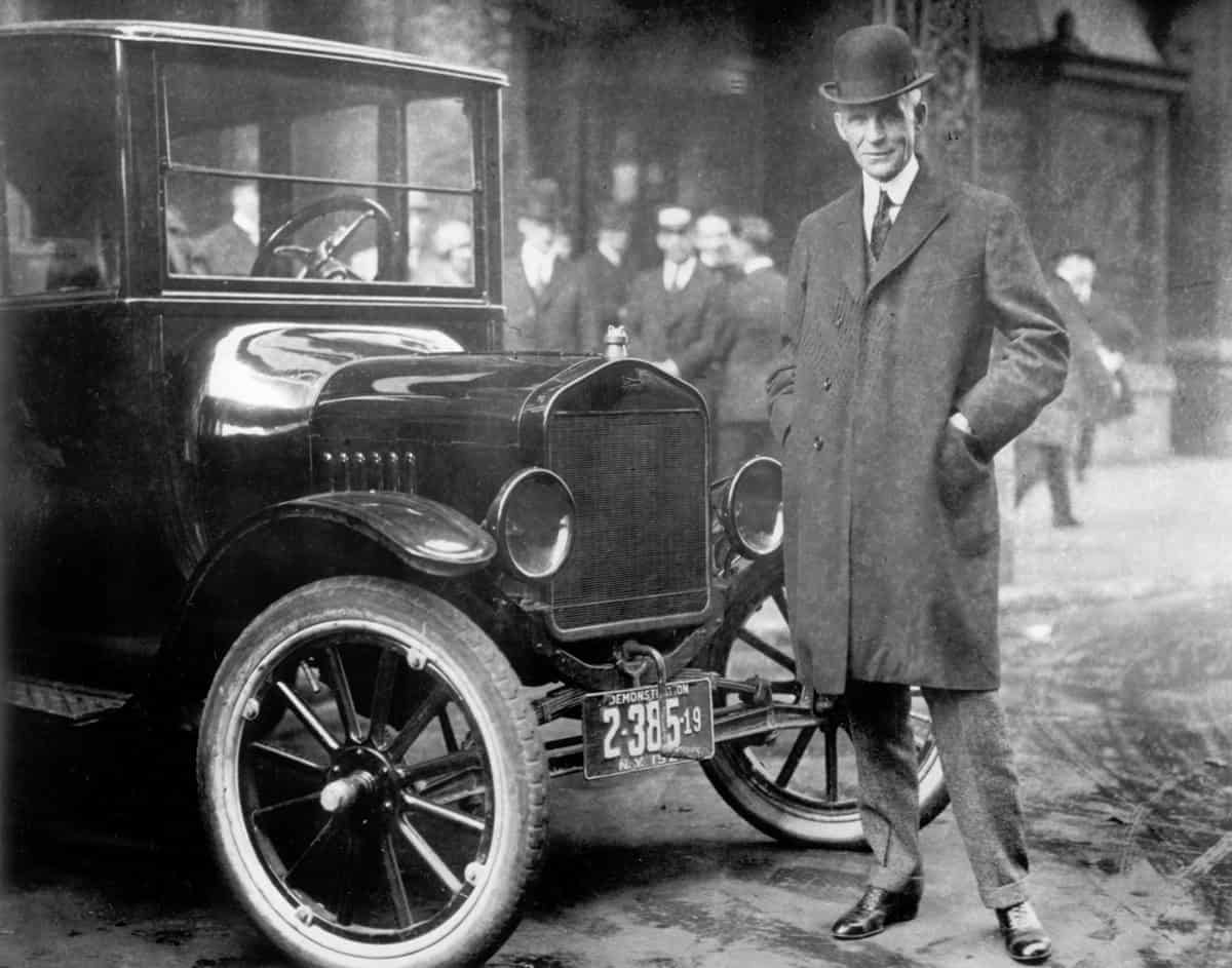Henry Ford, the founder of the Ford motor company