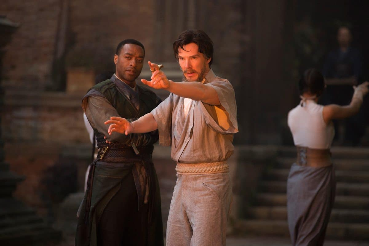 Mordo (Chiwetel Ejiofor) and Doctor Stephen Strange (Benedict Cumberbatch)