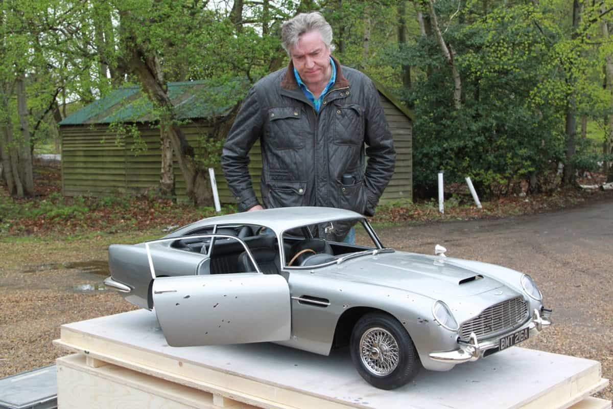 Steve with the miniature DB5