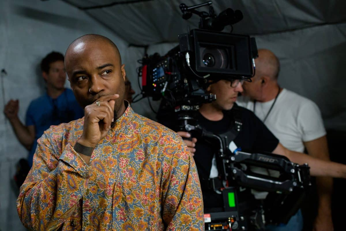 Director of Photography, Bradford Young on the set <em>Arrival</em>