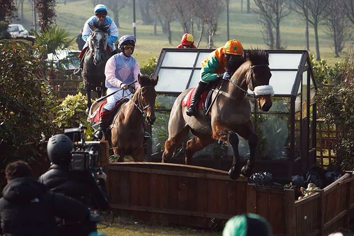 Shooting C4's promo for the Grand National with director Keith McCarthy