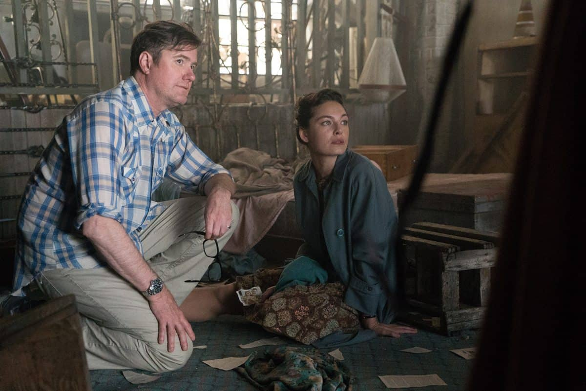 DP James Hawkinson and Alexa Davelos on the set of <em>The Man In The High Castle</em>