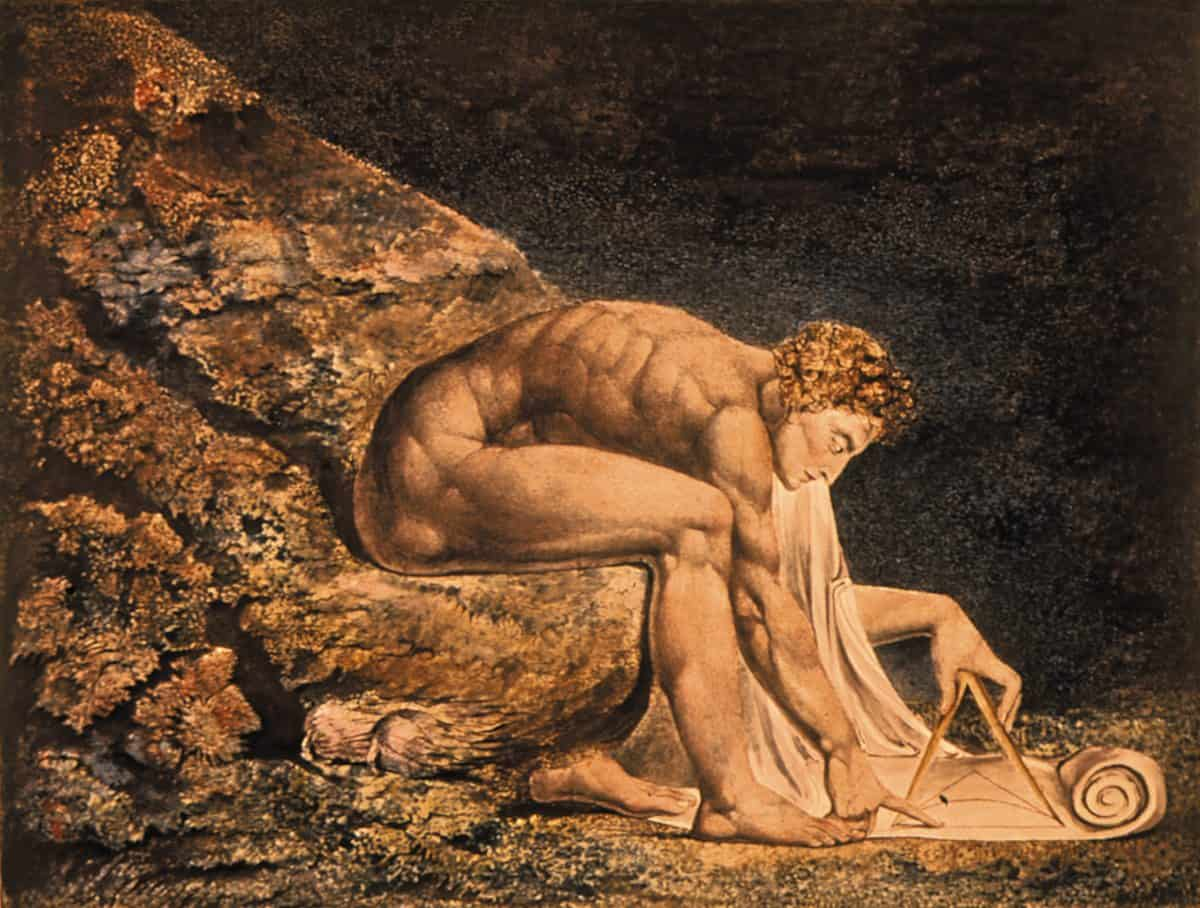 William Blake's <em>Newton</em>, 1795, Tate Gallery, London