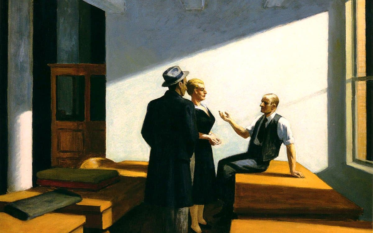 Edward Hopper, <em>Conference At Night</em>, 1949
