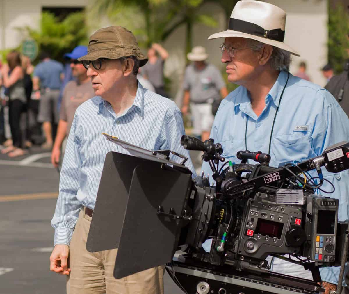 Woody Allen and Vittorio Storaro with the Sony F65