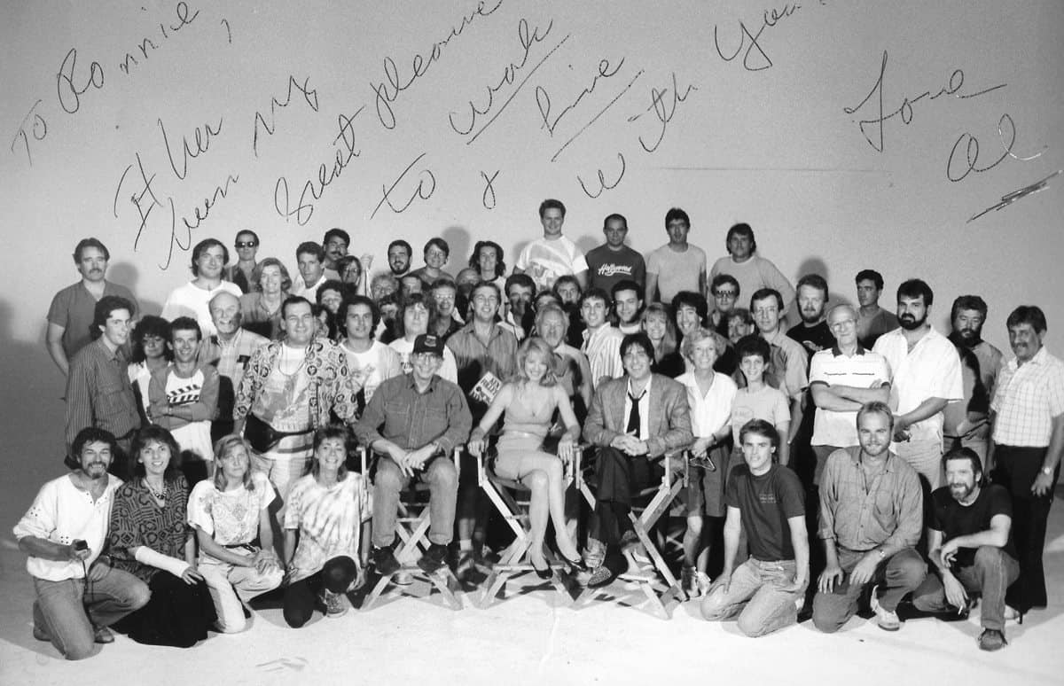 To Ronnie with love… crew and cast photo from <em>Sea Of Love</em>