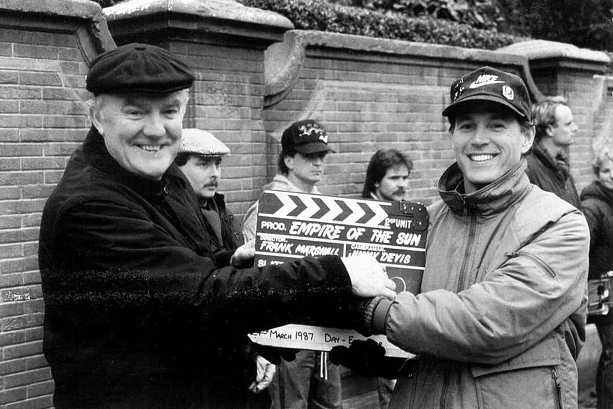 James Devis as second unit DP with second unit director Frank Marshall on <em>Empire of the Sun</em> (1987)