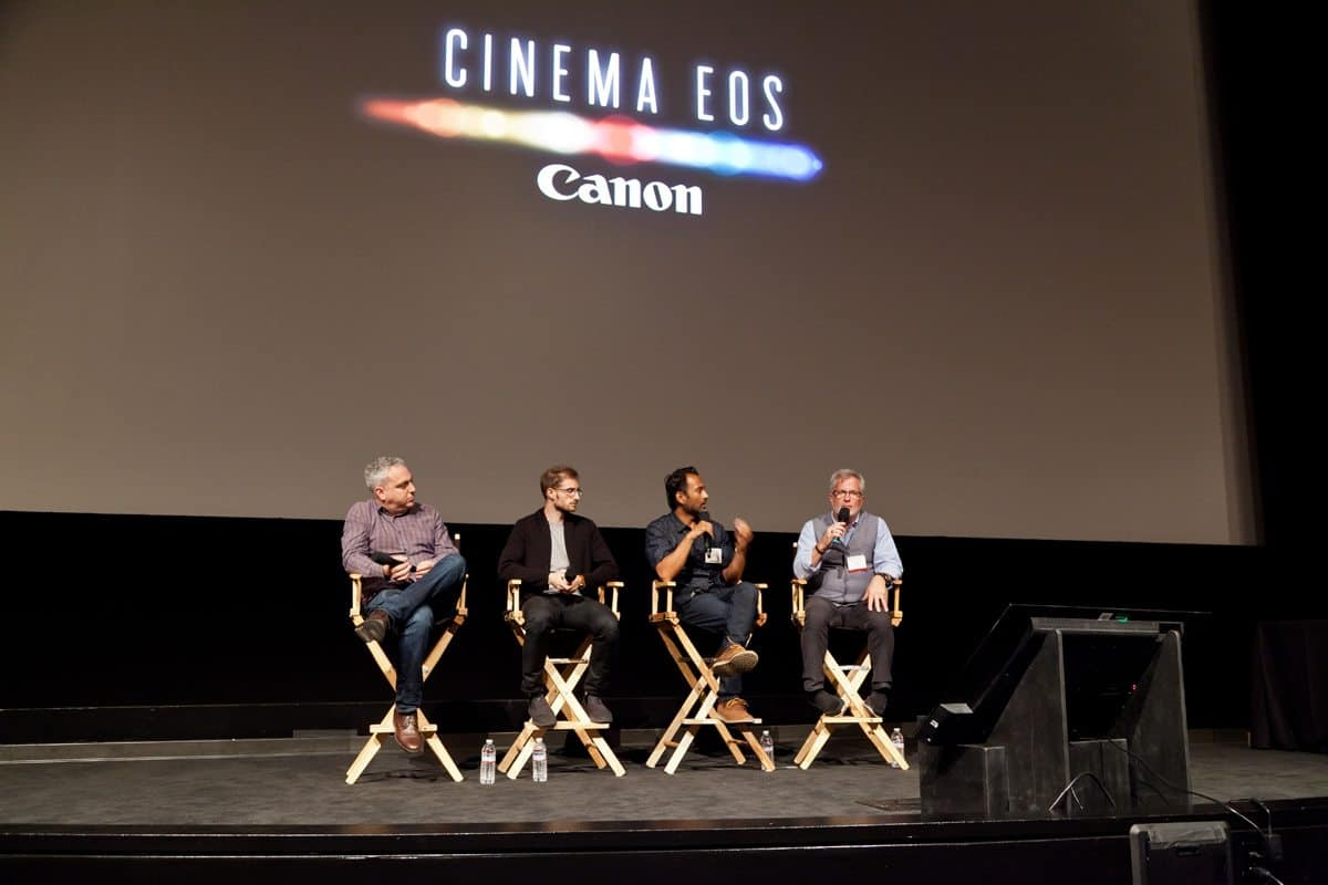Canon First Look Panel: Tim Smith (Moderator) Andrew Fried (Director), Bryant Fisher (DoP), Rohan Chitraker (DIT)