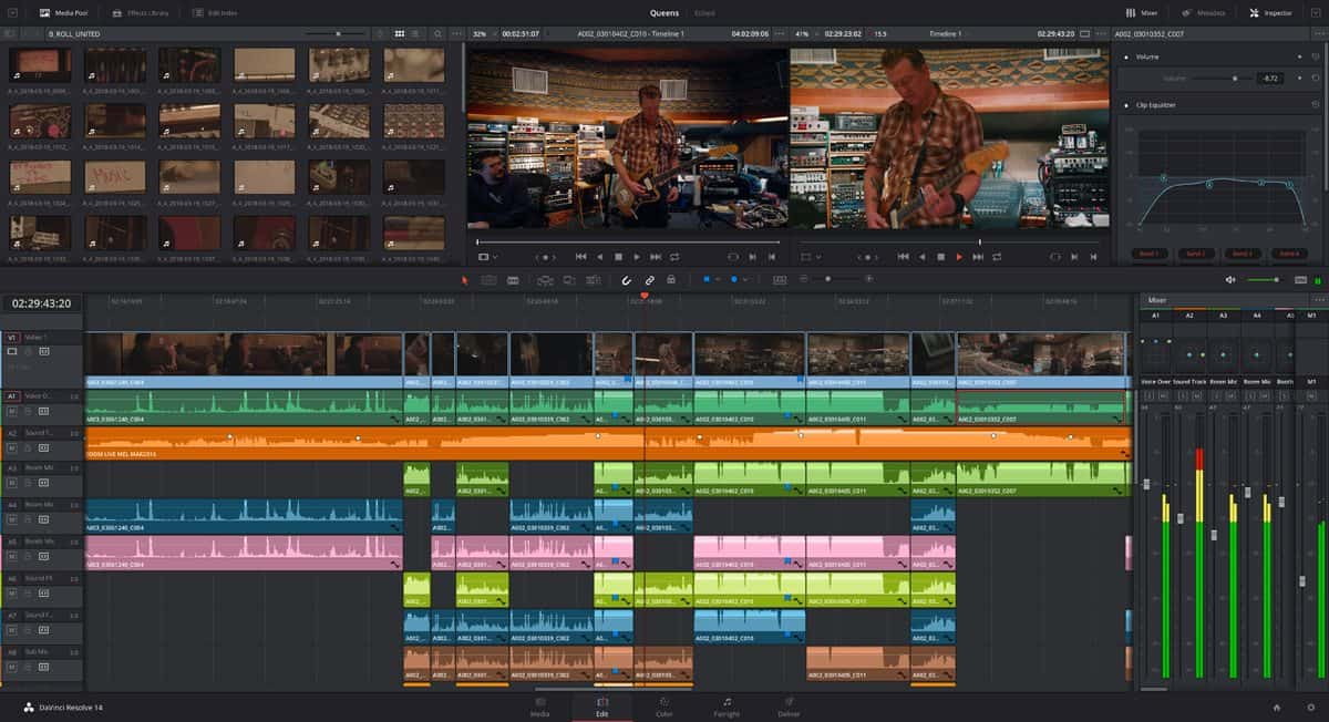 DaVinci Resolve 14 Editing Page