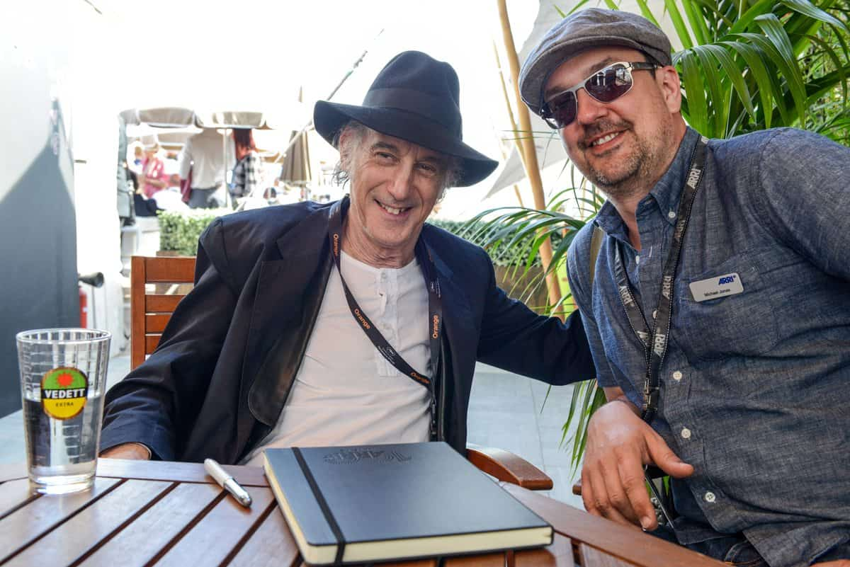Ed Lachman (left, Cinematographer) in talk with Michael Jonas (ARRI)