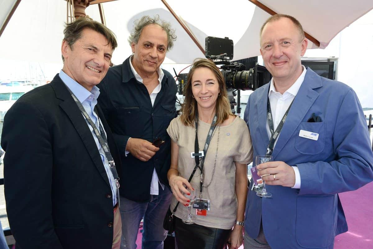 Franz Kraus (ARRI Executive Board), Darius Khondji (DP), Natasza Chroscicki (ARRI) and Martin Cayzer (ARRI Rental)