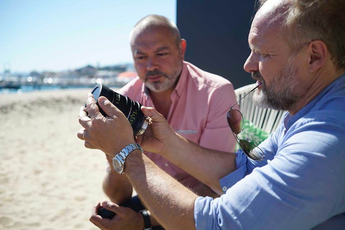 Have look at this… Christophe Beaucarne AFC with Tommaso Vergallo of CW Sonderoptic. Photo by François Reumont
