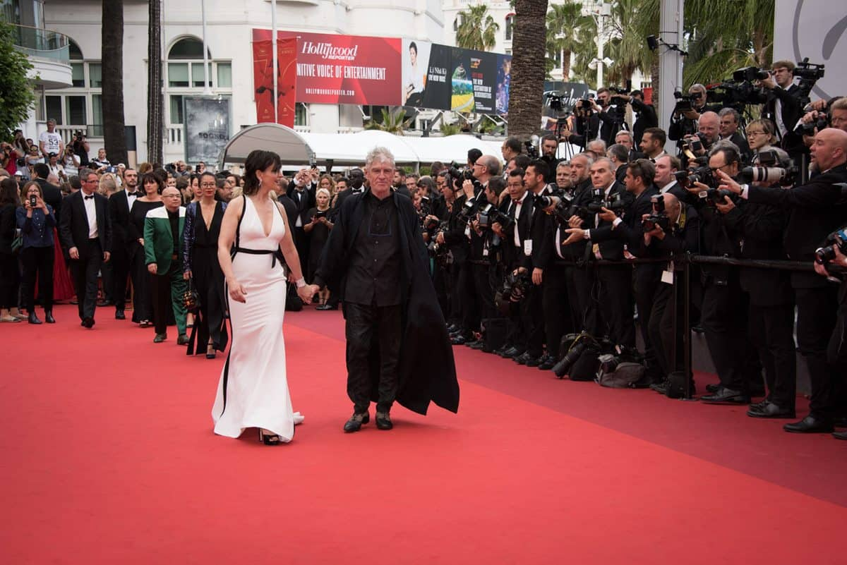 Red carpet.. Juliette Binoche accompanies Chris Doyle HKSC. Photo by Pauline Maillet