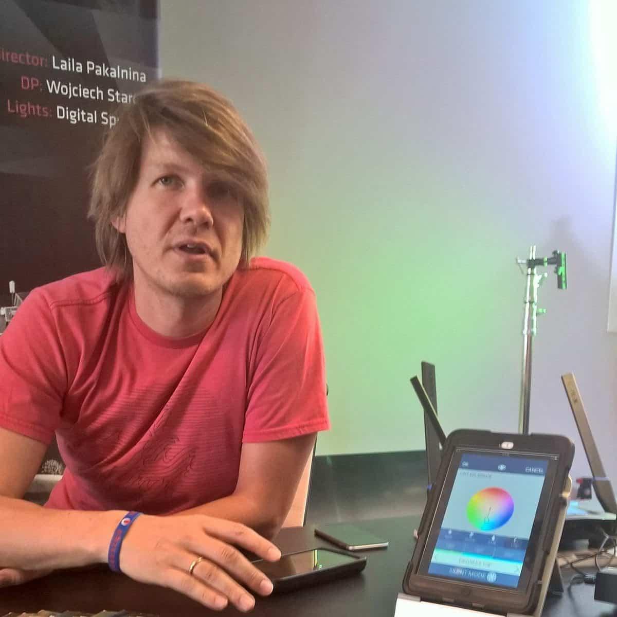 Digital Sputnik CEO Kaur Kallas gives an app demonstration