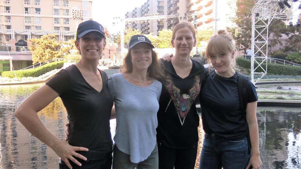 DP Eve Cohen, Director Sara Nesson, Camera Operator Sherri Kauk and Camera Operator Luisa Conlon at the <em>Women Who Score</em> concert