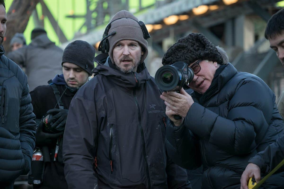 Cinematographer Michael Seresin, right, with Director Matt Reeves