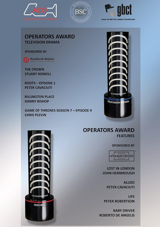 Finalists Announced for the ACO/BSC/GBCT Operators Awards