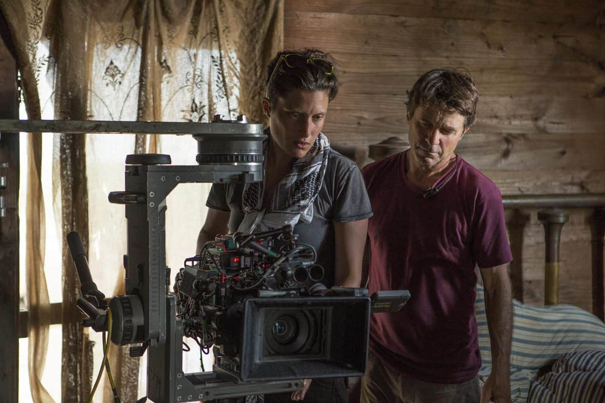 DP Rachel Morrison shoots the feature <em>Mudbound</em>. Photo credit: Steve Dietl, Netflix.
