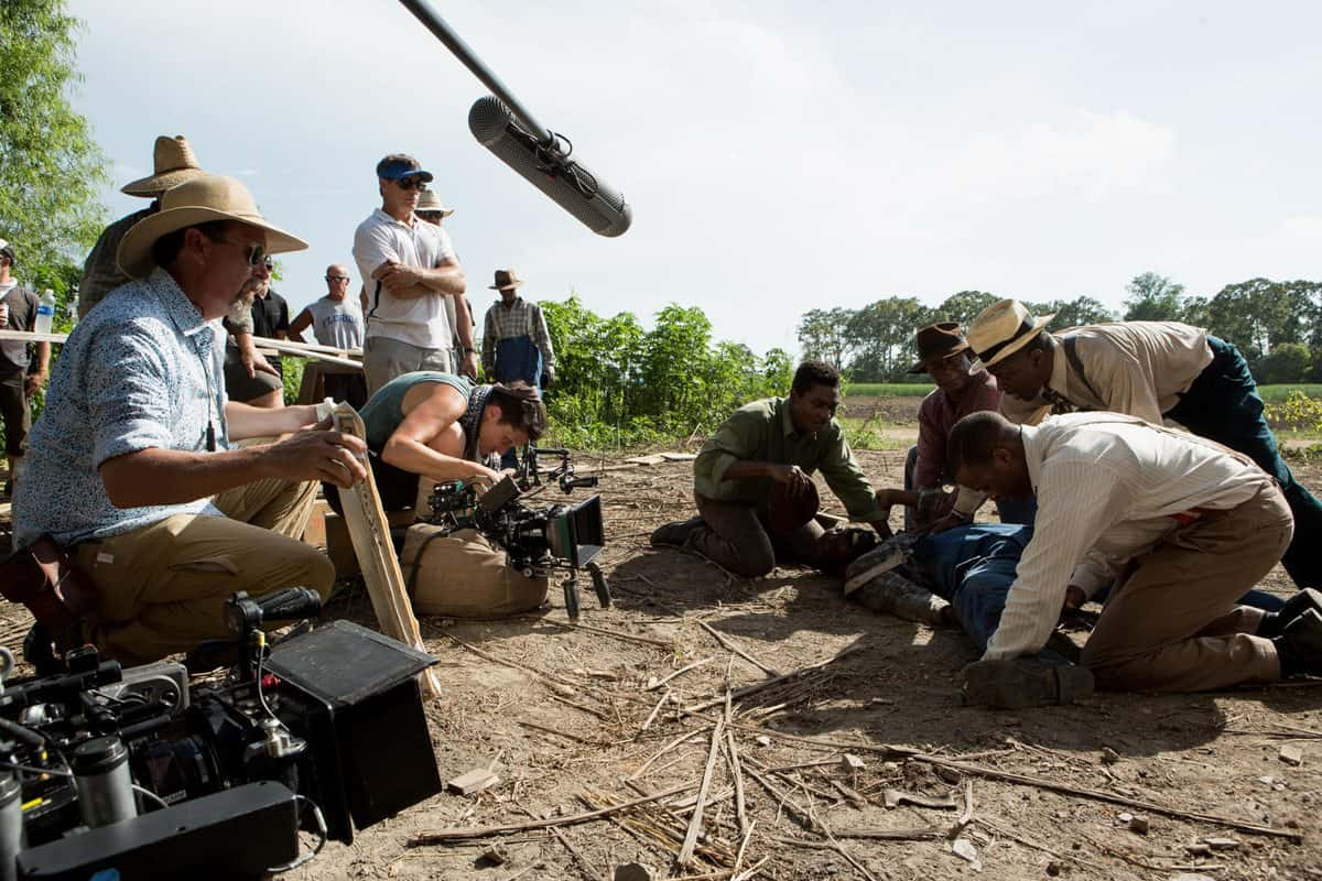 Shooting a close-up for <em>Mudbound</em>. Photo credit: Steve Dietl, Netflix.