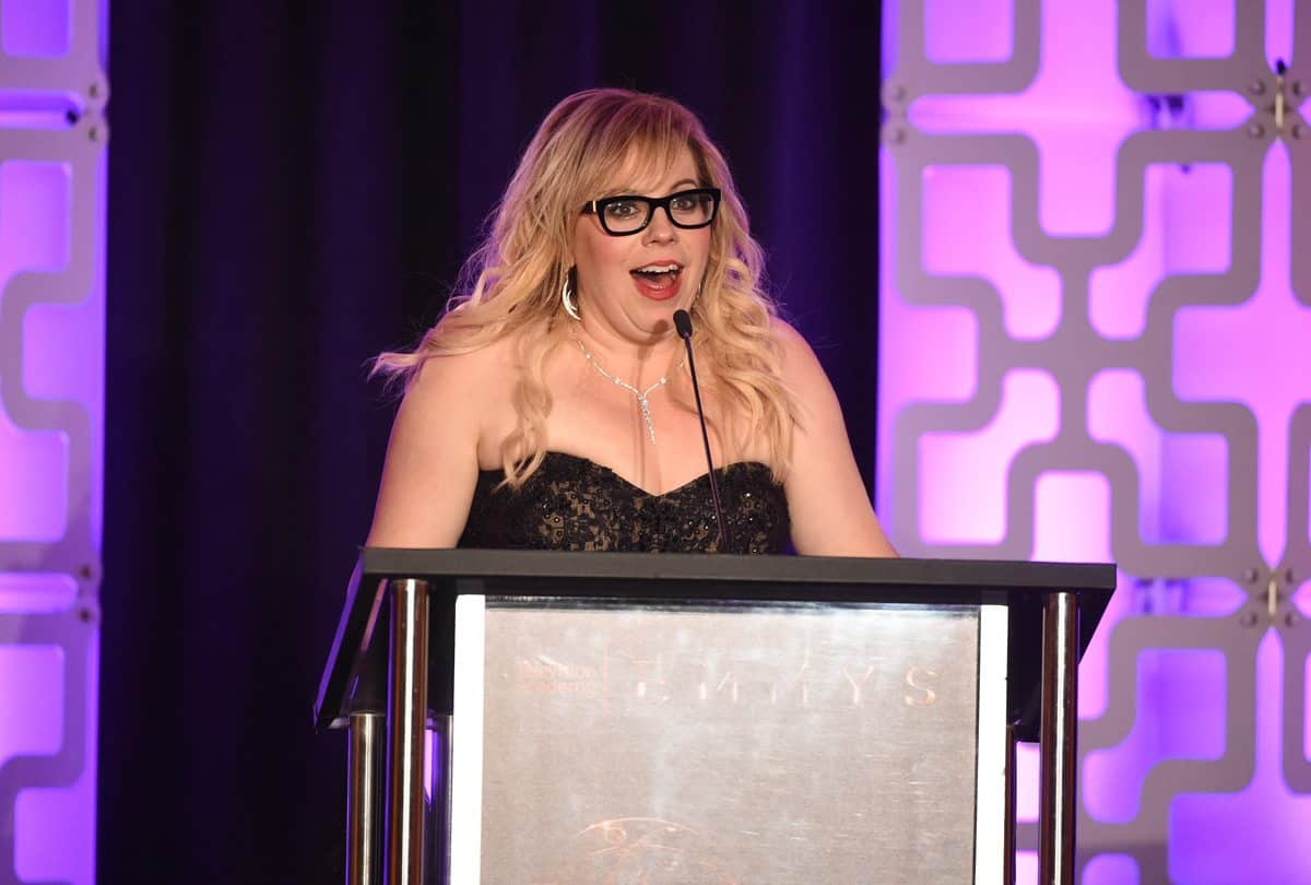Kirsten Vangsness speaks at the 69th Engineering Emmy Awards
