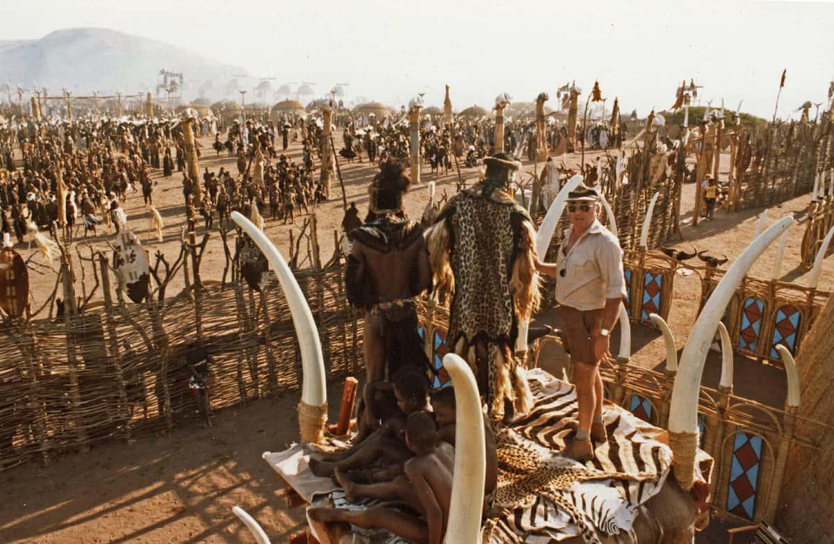<em>Shaka Zulu</em>... shooting with over 2,000 Zulu warriors for several days
