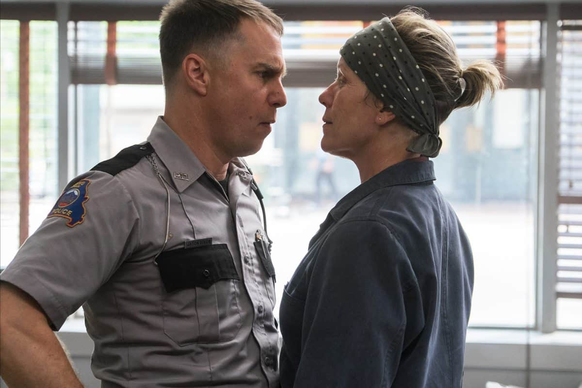 Sam Rockwell and Frances McDormand in the film. Photo by Merrick Morton.