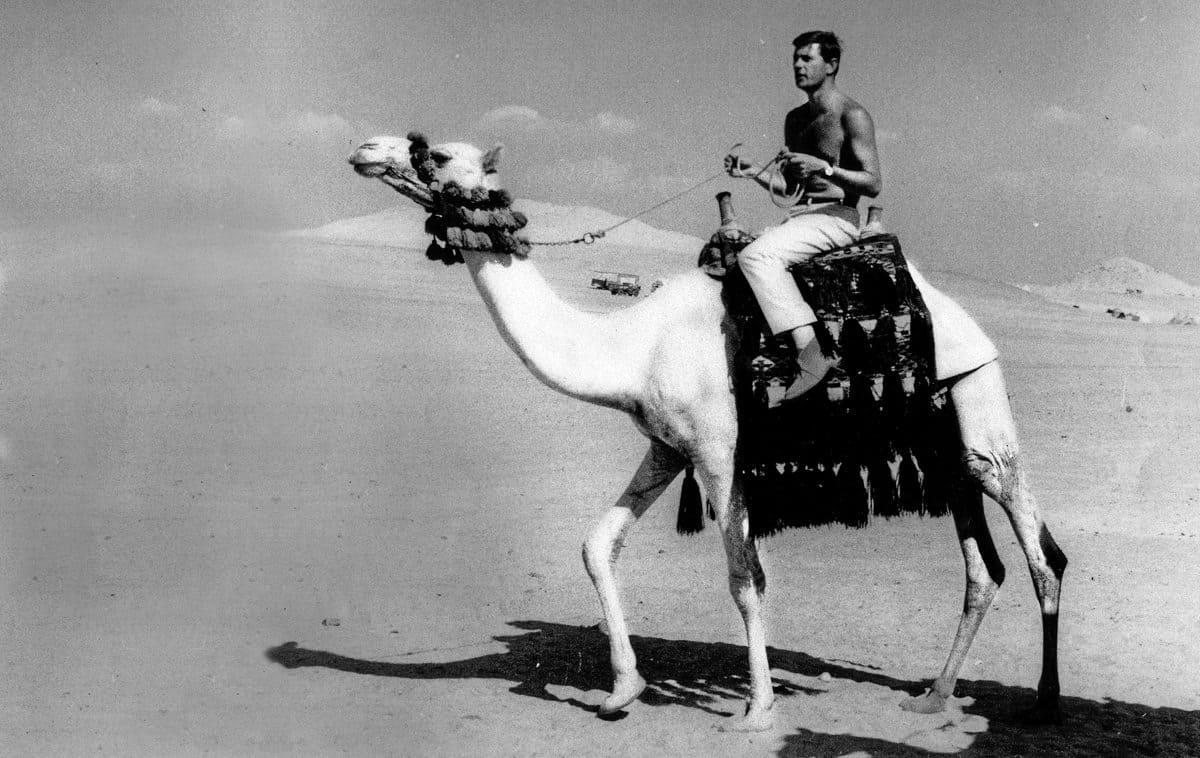 Never one to get the hump… enjoying the desert sunshine during <em>Khartoum</em>