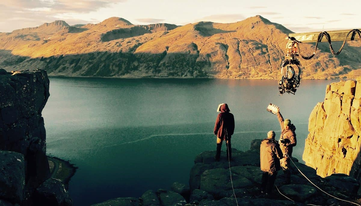 On location in Iceland