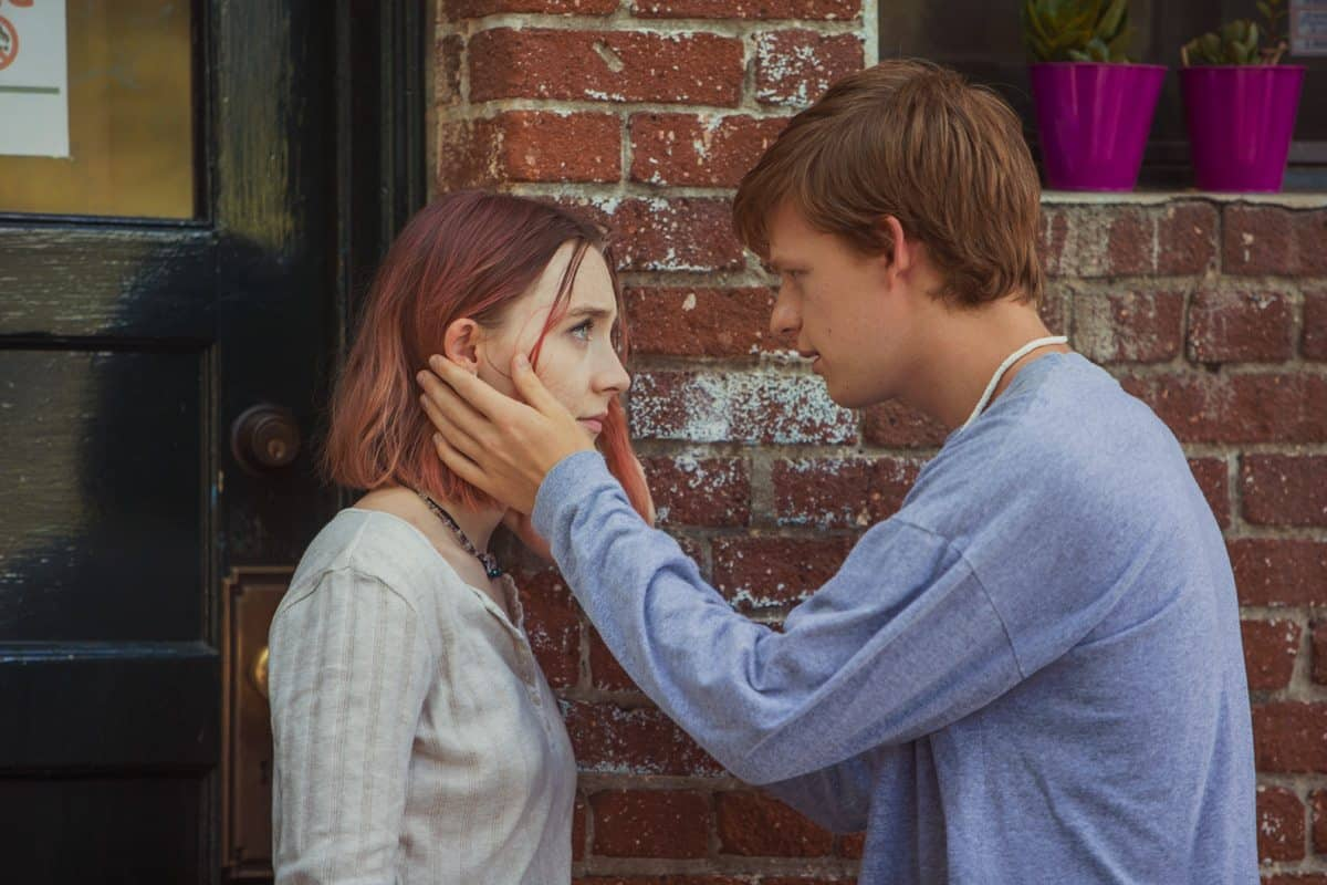 Saoirse Ronan and Lucas Hedges in <em>Lady Bird</em>. Photo by Merie Wallace, courtesy of A24