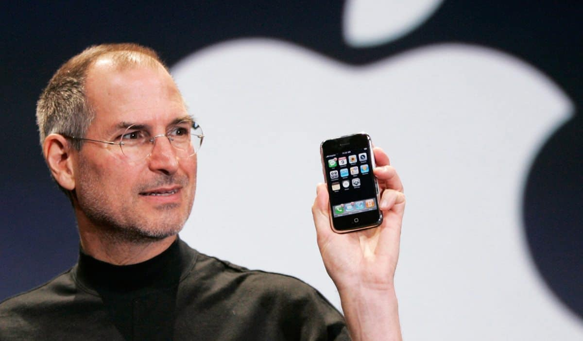 1997 and the first ever iPhone is unveiled to an adoring audience by Steve Jobs